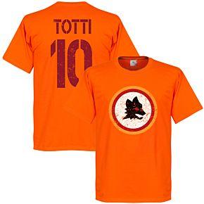 Roma Vintage Crest with Totti 10 Tee - Orange