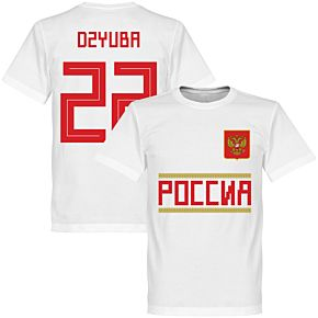 Russia Team Dzyuba 22 Tee - White
