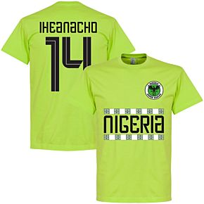 Nigeria Iheanacho 14 Team Tee - Light Green