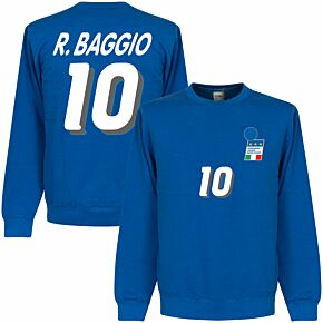 R. Baggio 1994 Italy Home Sweatshirt - Royal