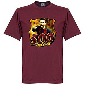 Messi 500 Club Goals Tee - Maroon