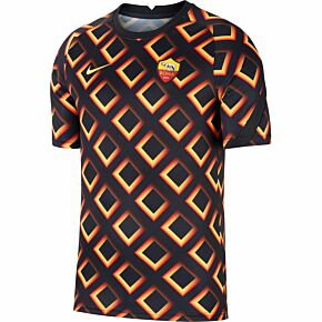 20-21 AS Roma Breathe Pre-Match Top - Black