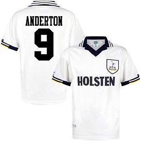 1994 Tottenham Home Retro Shirt + Anderton 9 (Retro Flock Printing)
