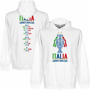 Italia Champions of Europe 2020 Road to Victory Hoodie - White