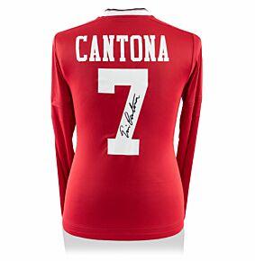 Eric Cantona Signed Man Utd 15-16 Long Sleeved Shirt (Back Signed)