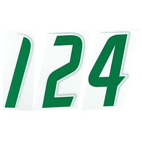 06-07 Puma Official Front Numbers Green-Silver Speed Style 112mm