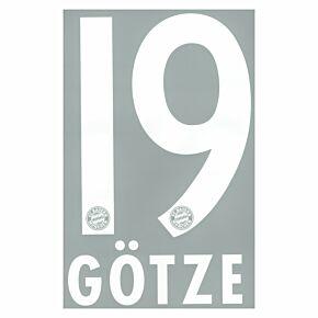 Götze 19 - Boys Bayern Munich Home Official Name & Number 2013 / 2014