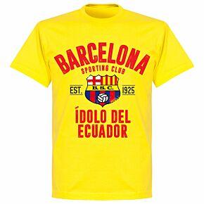 Barcelona Sport Club Established T-shirt - Lemon Yellow