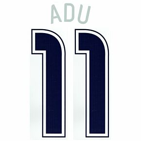 Adu 11 - 06-07 USA Home Official Name and Number Transfer