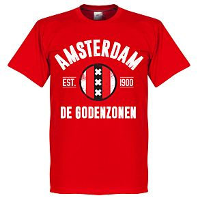 Amsterdam Established Tee - Red