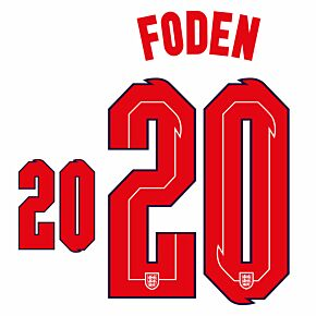 Foden 20 (Official Printing) - 20-21 England Home