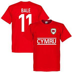 Cymru Bale 11 Team T-Shirt - Red