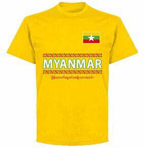 Myanmar Team T-shirt - Yellow