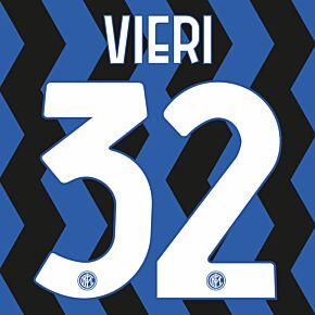 Vieri 32 (Official Printing) - 20-21 Inter Milan Home