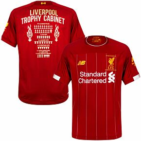 19-20 Liverpool Home P/L Champions Home Shirt + Trophy Cabinet Printing