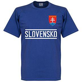 Slovakia Team Tee - Blue