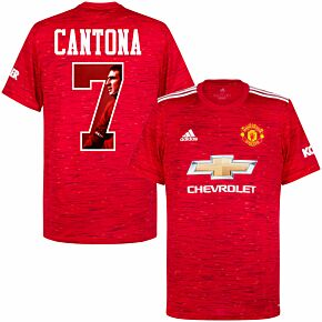 20-21 Man Utd Home Shirt + Cantona 7 (Gallery Style)
