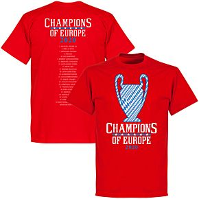 Bayern 2020 Champions of Europe Squad T-shirt - Red
