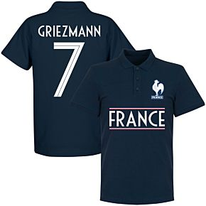 France Griezmann 7 Team Polo - Navy