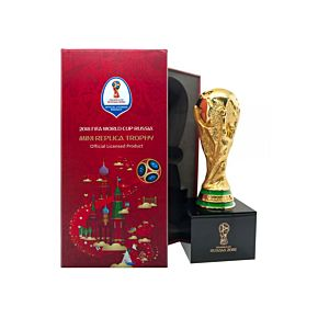 2018 World Cup Replica Trophy on Wooden Pedestal - (ca. 4 inches)