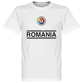 Romania Team Tee - White