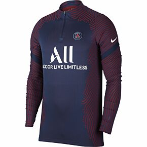 20-21 PSG VaporKnit Strike Drill Top - Navy/Red