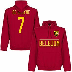 Belgium De Bruyne 7 Team KIDS Hoodie - Red