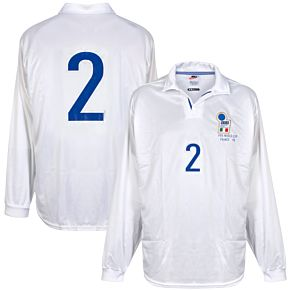 Nike Italy FIFA World Cup 1998Away L/S No.2 Player IssueShirt - NEW Condition - Size Large