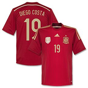 Spain Home Diego Costa Jersey2014 / 2015