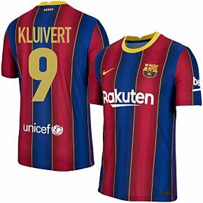 20-21 Barcelona Vapor Match Home Shirt + Kluivert 9 (Retro Fan Style)
