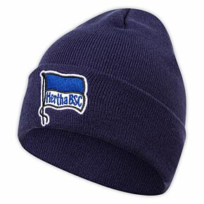BSC Hertha Berlin Logo Beanie Hat - Navy