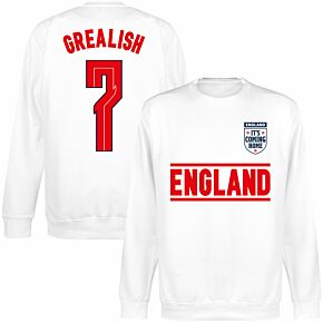 England Grealish 7 Team KIDS Sweatshirt - White
