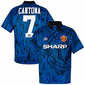 Umbro Man Utd 1992-1993 Away Shirt Cantona No.7 - USED Condition (Fair) - Size XL