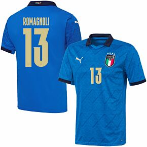 20-21 Italy Home Shirt + Romagnoli 13 (Official Printing)