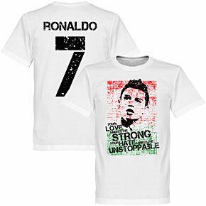 Ronaldo 7 Portugal KIDS Tee - White
