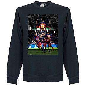 Barcelona The Holy Trinity Sweatshirt - Navy