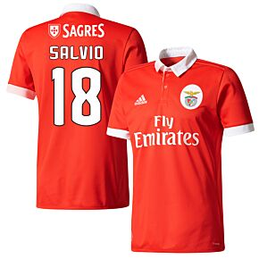 Benfica Home Salvio Jersey 2017 / 2018 (Fan Style Printing)