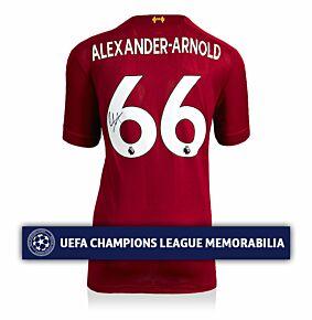 Trent Alexander-Arnold Back Signed Liverpool Home 19-20 Shirt