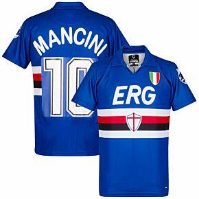 Copa Sampdoria Home Retro Shirt 1991-1992 + Mancini 10
