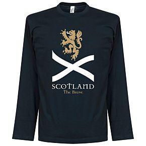 Scotland The Brave L/S Tee  - Navy