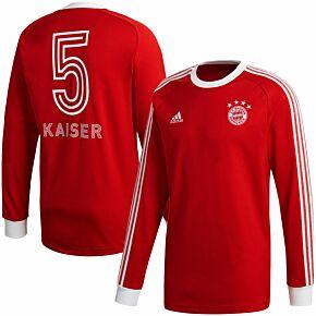 Adidas FC Bayern Munich Icons L/S Top - Red
