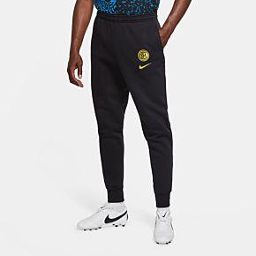 20-21 Inter Milan Fleece Pants - Black