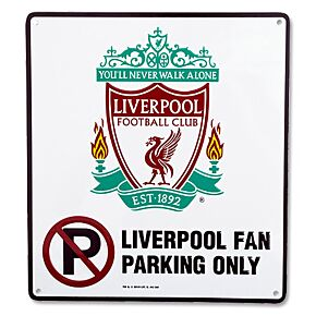 Liverpool 'No Parking' Metal Sign - (22cm x 25cm)