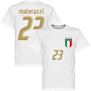 2006 Italy Materazzi Tee - White