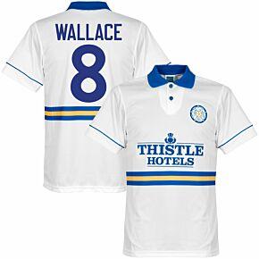 1994 Leeds Utd Home Retro Shirt + Wallace 8 (Retro Flock Printing)