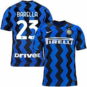 20-21 Inter Milan Home Shirt + Barella 23