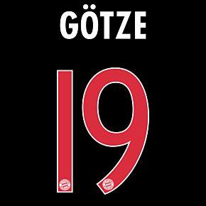 Götze 19  - Bayern Munich 3rd Official Name & Number 2015 / 2016