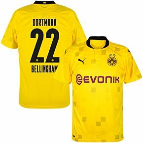 20-21 Borussia Dortmund Cup Shirt + Bellingham 22 (Official Printing)