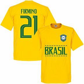 Brazil Firminho 21 Team Tee - Yellow