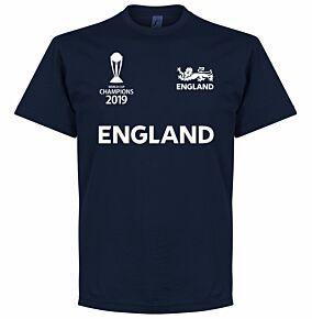 England Cricket World Cup Winners T-Shirt - Navy
